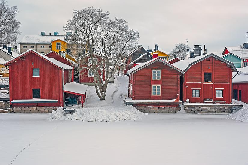 image Finlande porvoo hiver  it