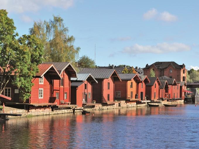 image Finlande porvoo maisons