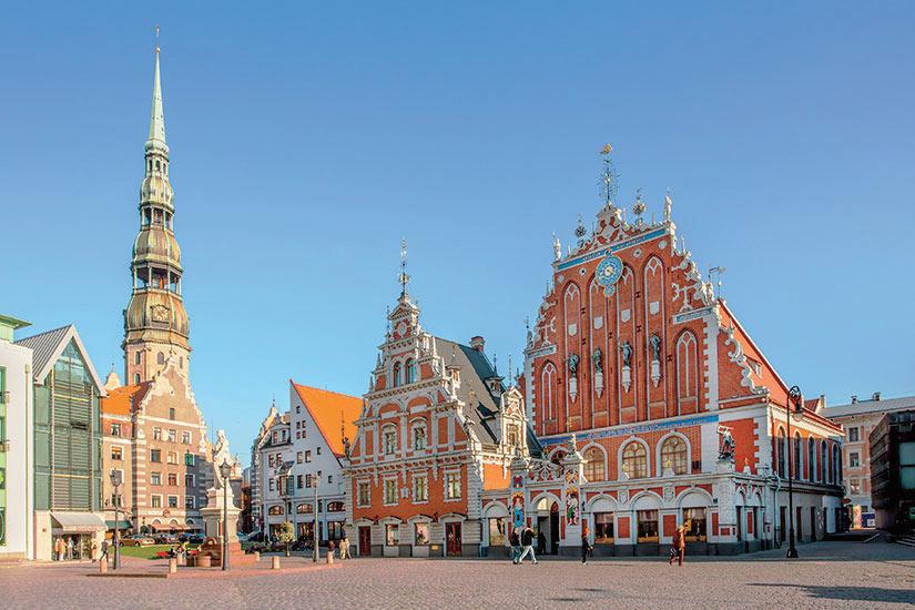 image Lettonie Riga Place de la Mairie  fo
