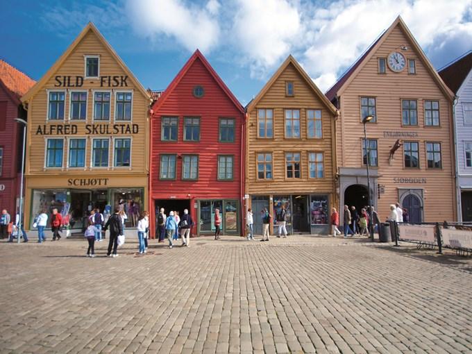 image Norvege Bergen maisons