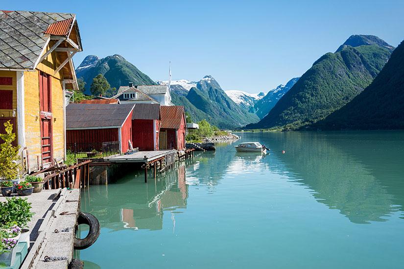 image Norvege Fjord montagnes  fo