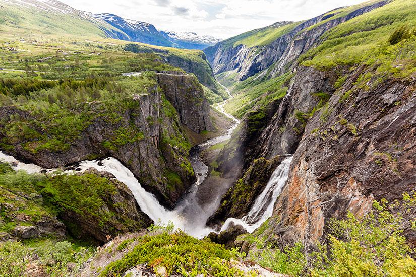 image Norvege Hardangervidda Voringsfossen cascades  it