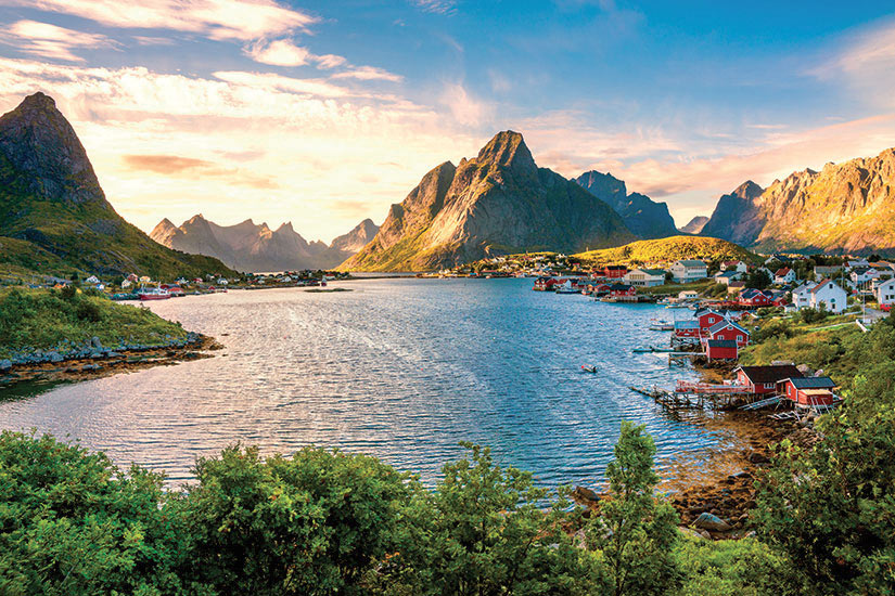 image Norvege Lofoten vue aerienne  fo