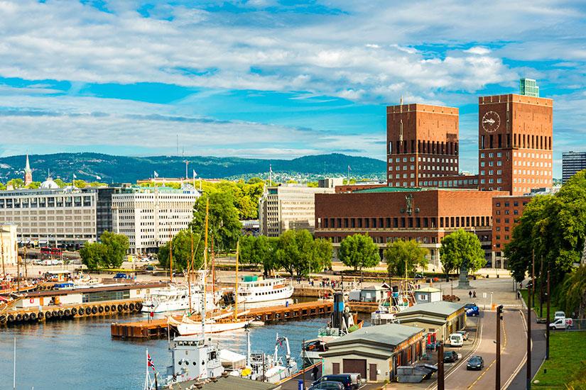 image Norvege Oslo port  it