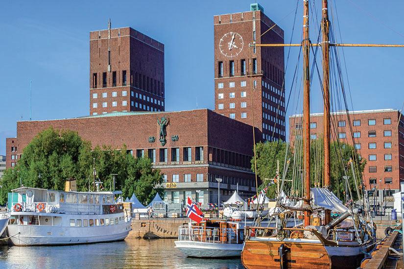 image Norvege Oslo port avec des bateaux  fo