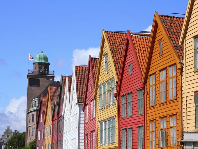 image Norvege bergen maison