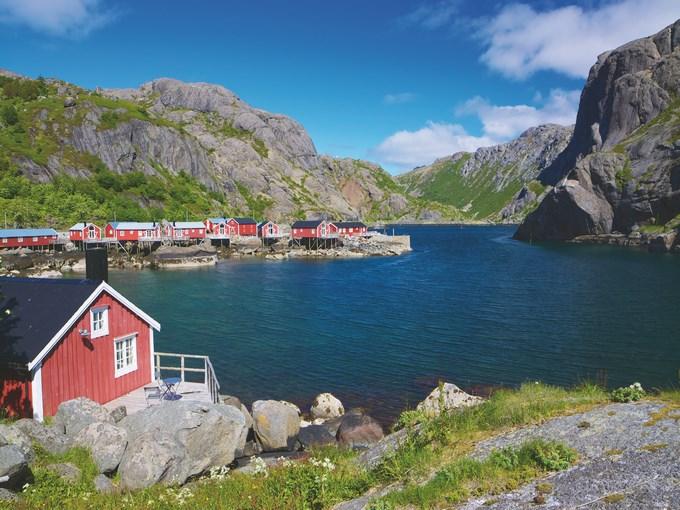 image Norvege lofoten rivage