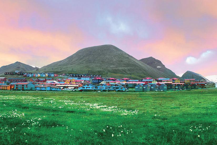 image Norvege vue de Longyearbyen  fo