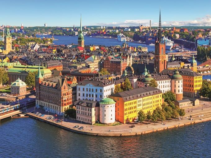 image Suede stockholm vue aerienne
