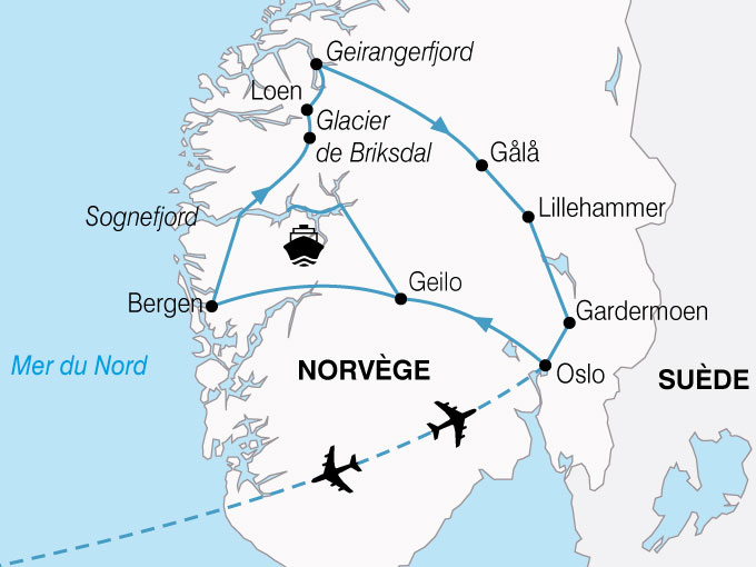CARTE Norvege Plus Beaux Fjords  shhiver 291545