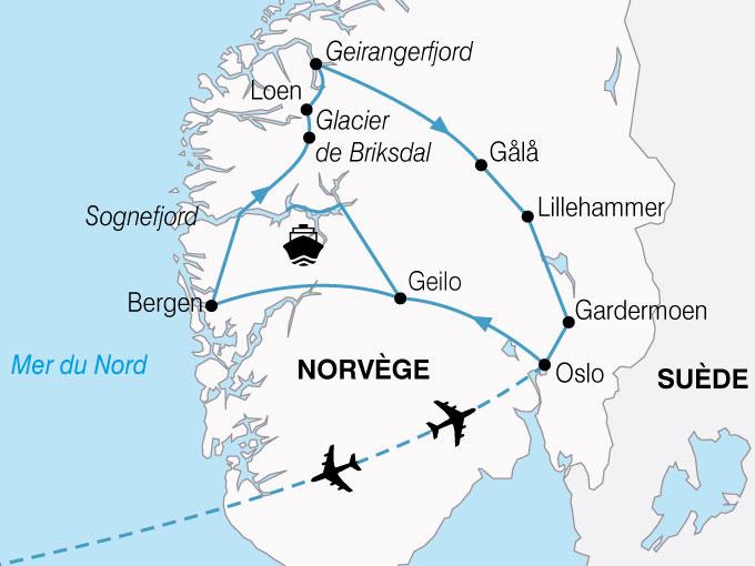 CARTE Norvege Plus Beaux Fjords  shhiver 291545