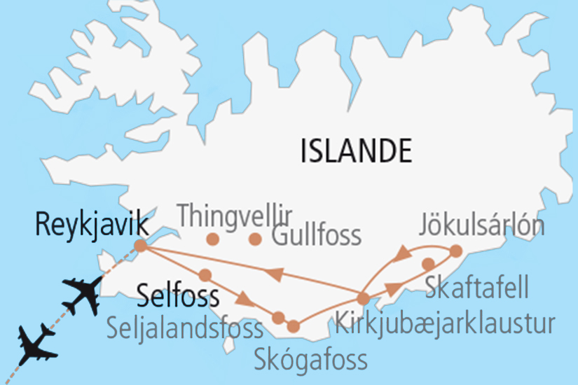 carte  Saga Islandaise 324574
