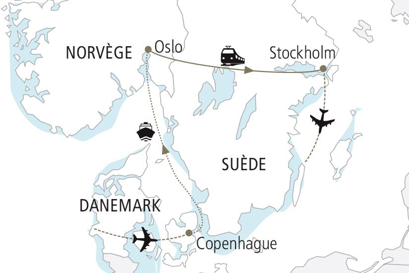 carte Danemark Norvege Suede Les Capitales Scandinaves NDK18 19_259 226441