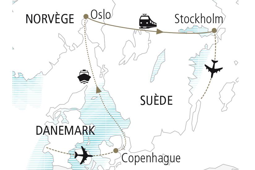 Circuit Autotour Danemark Norvege Suede Les Capitales