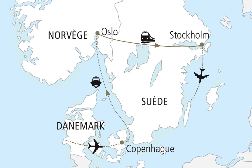 carte Danemark Norvege Suede Les Capitales Scandinaves Nordiska 19_285 896463