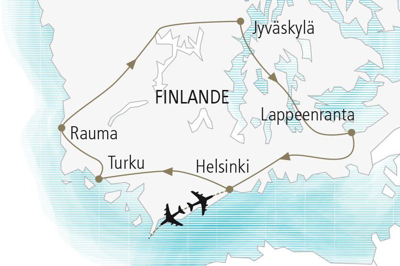 carte Finlande Au Pays des Mille Lacs Nordiska 20_337 311147