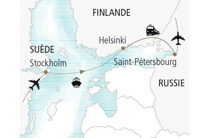 carte Finlande Russie Suede Inspirations Slaves et Scandinaves Nordiska 19 20_307 833729