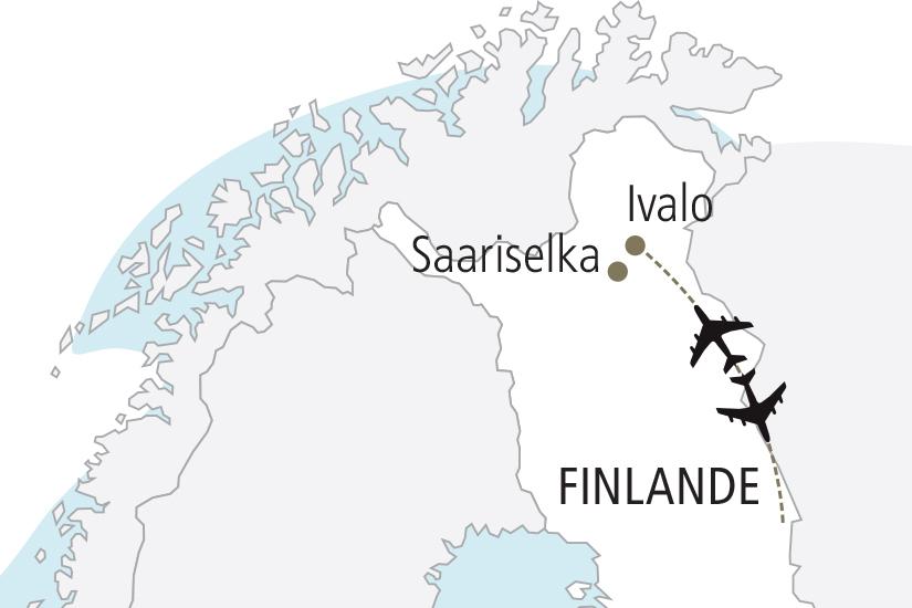 carte Finlande Sejour en Laponie NDK18 19_259 596677