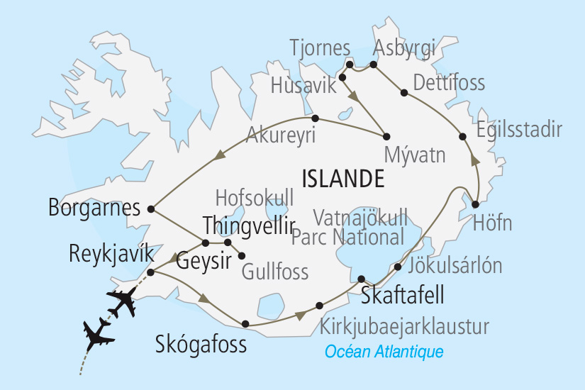 carte Islande L Essentiel de l Islande Nordiska 19_285 526705