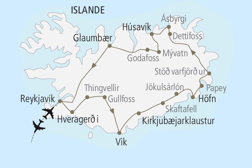 carte Islande L Islande en toute liberte Nordiska 19_285 627247