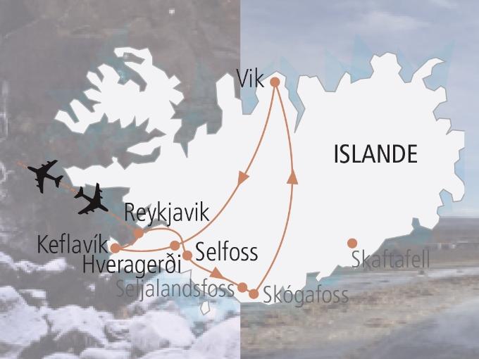 carte Islande hiver magie hivernale 861316