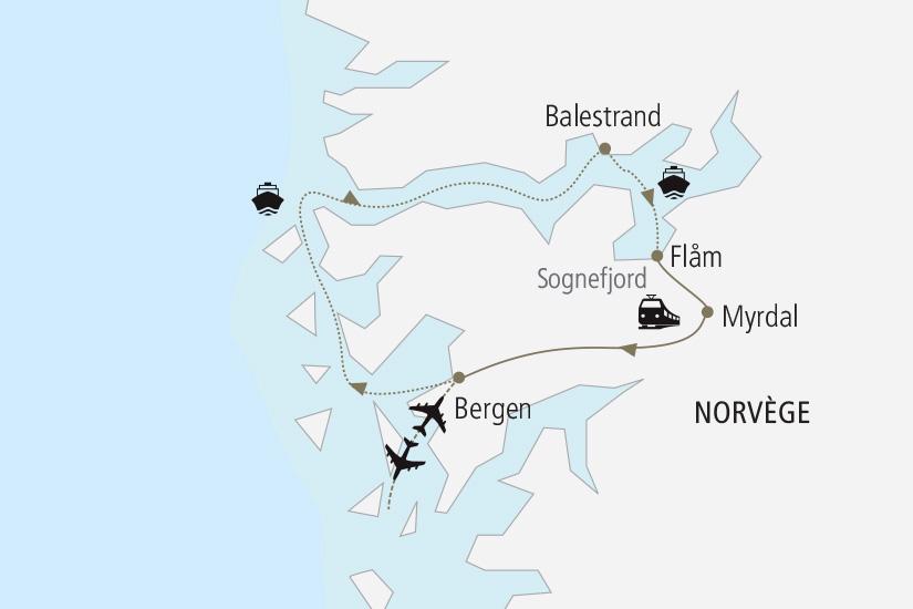 carte Norvege Au Coeur des Fjords Nordiska 19_285 175479