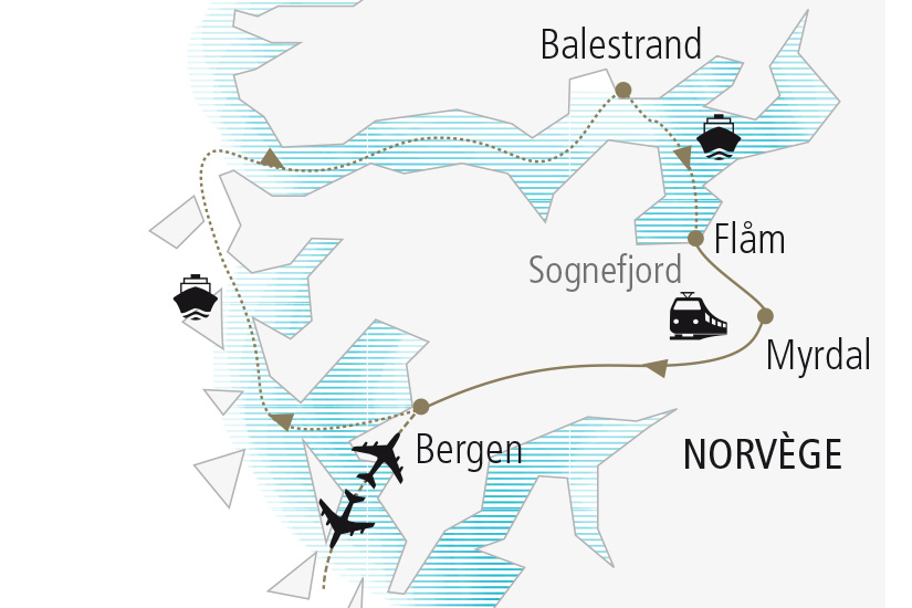 carte Norvege Au Coeur des Fjords Nordiska 20_337 163675