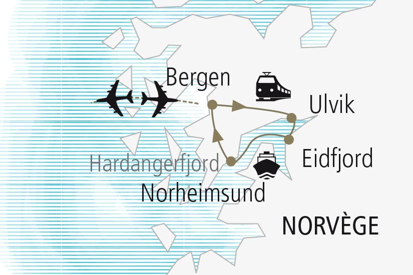 carte Norvege Au Coeur du Hardangerfjord Nordiska 20_337 394864