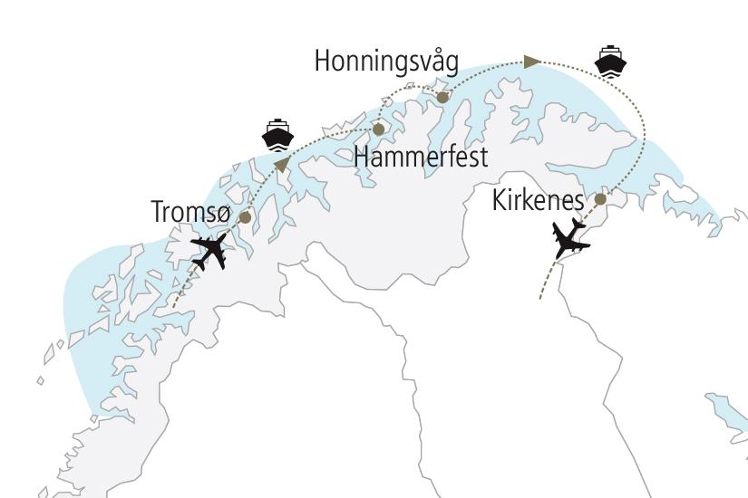 carte Norvege Au Pays des Aurores Boreales NDK18 19_259 484090