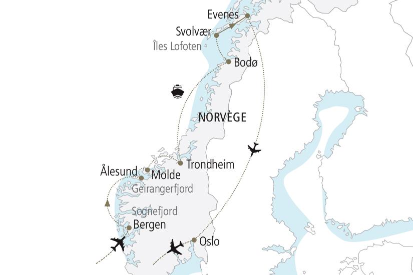 carte Norvege Au Pays des Vikings NDK18 19_259 379170