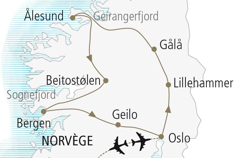 carte Norvege Au Royaume des Fjords et des Trolls Nordiska 20_337 821247