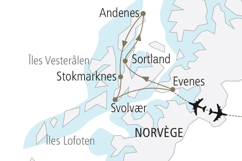 carte Norvege Iles Lofoten et Vesteralen NDK18 19_259 808489