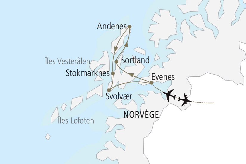 carte Norvege Iles Lofoten et Vesteralen Nordiska 19_285 103468
