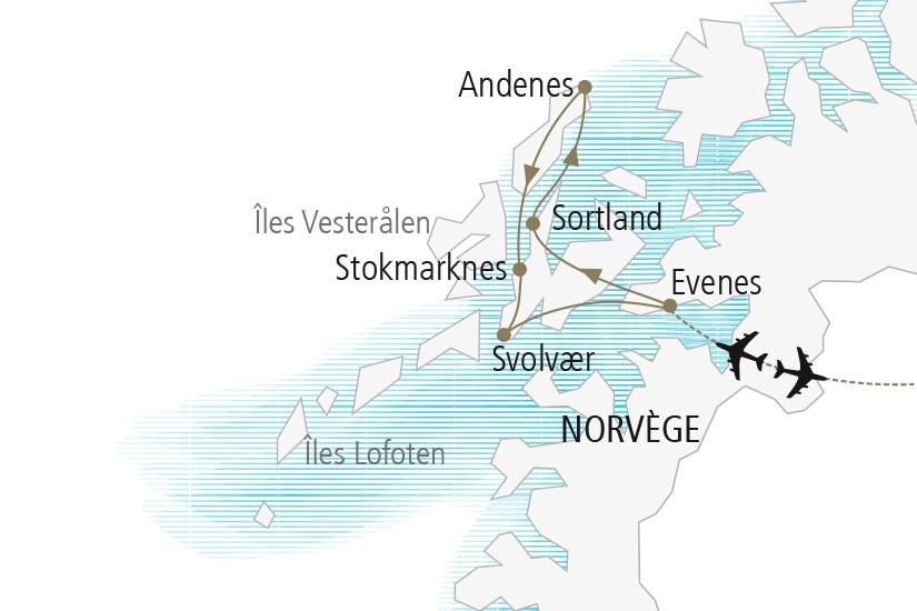 carte Norvege Iles Lofoten et Vesteralen Nordiska 20_337 538110