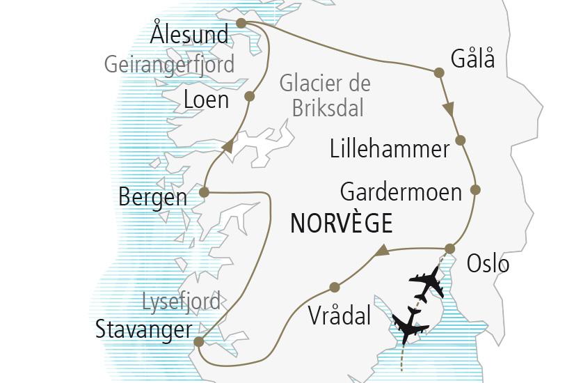 carte Norvege Tresors Norvegiens Nordiska 20_337 495693