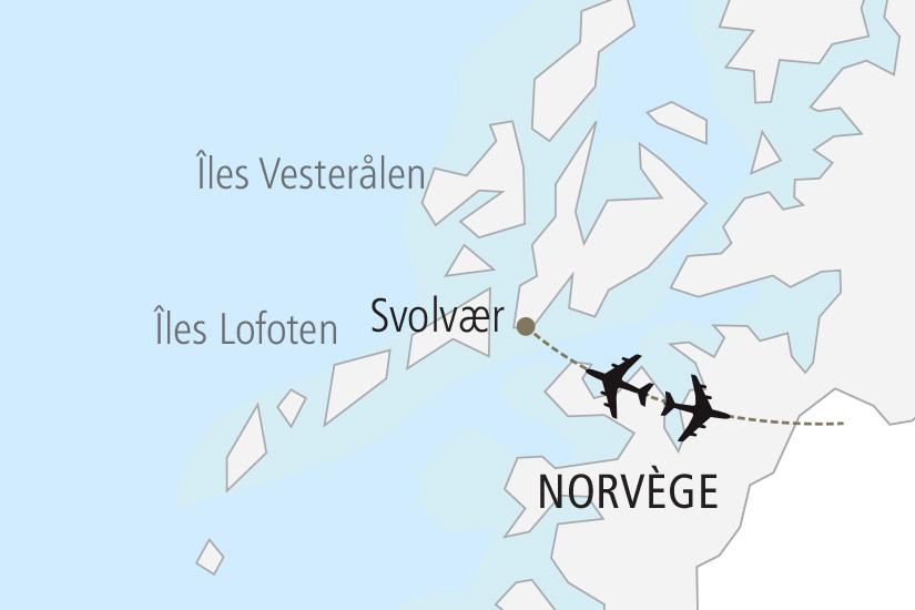 carte Norvege Vacances actives aux iles Lofoten Nordiska 19_285 882605