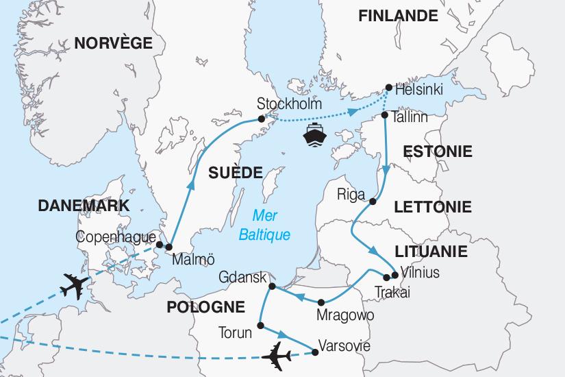 Danemark - Estonie - Finlande - Lettonie - Lituanie - Pologne - Suède - Circuit Le Grand Tour de la Baltique