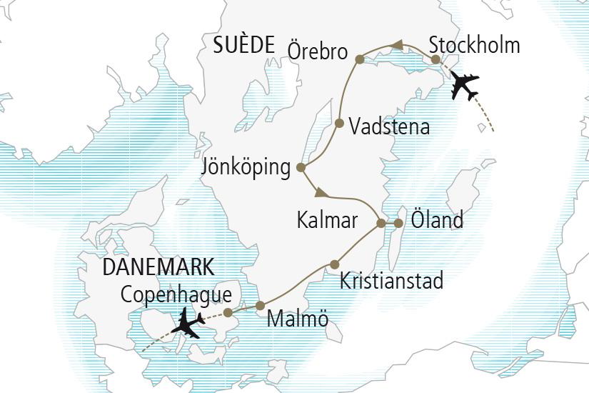 carte Suede Au Royaume de Suede Nordiska 20_337 207685