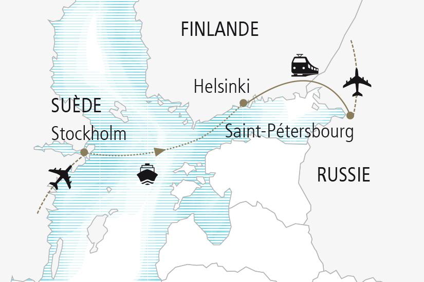 carte Suede Finlande Russie Inspirations Slaves et Scandinaves Nordiska 20_337 867558