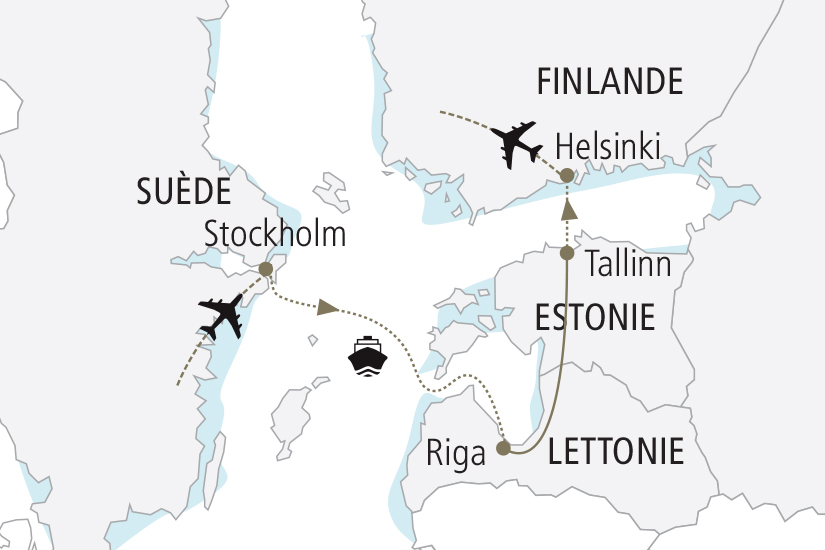 carte Suede Lettonie Estonie Finlande Merveilles de la Baltique NDK18 19_259 219716