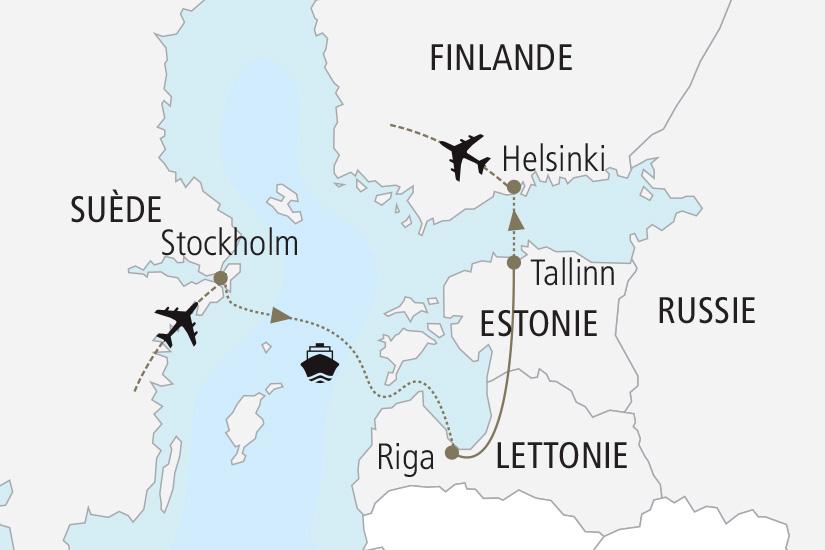 carte Suede Lettonie Estonie Finlande Merveilles de la Baltique Nordiska 19_285 878036