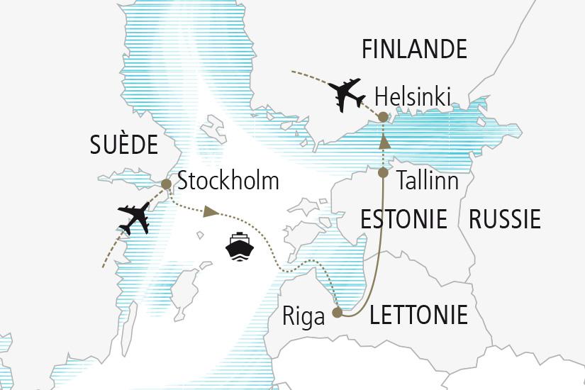 carte Suede Lettonie Estonie Finlande Merveilles de la Baltique Nordiska 20_337 464295