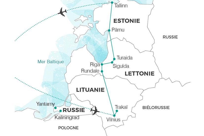 carte lituanie Perles de la baltique 235 840551