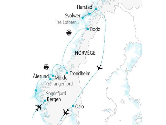 carte nordiska scandinavie circuit  Au Pays Des Vikings 532304