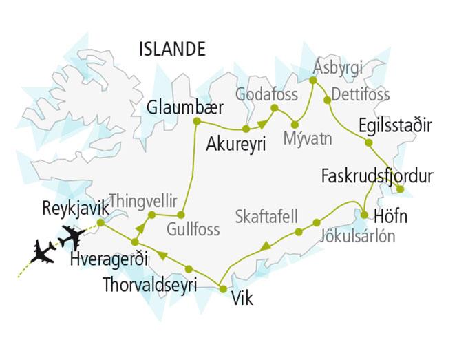 carte nordiska scandinavie circuit  Islande Terre Feu Glace 139093