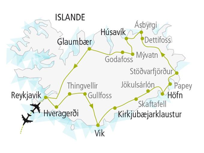 carte nordiska scandinavie circuit  Islande Toute Liberte 606794