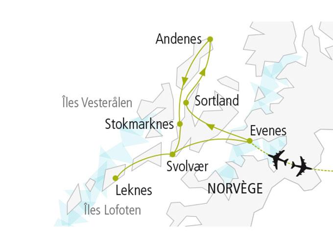 carte nordiska scandinavie circuit  Lofoten Vesteralen 526026