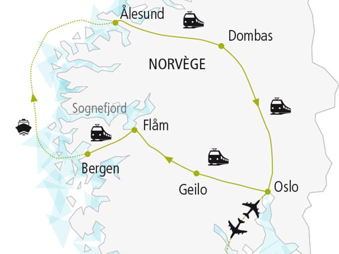 carte nordiska scandinavie circuit  Norvege Couleur Locale 485948