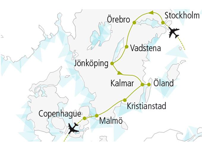 carte nordiska scandinavie circuit  Royau Me Suede 409282