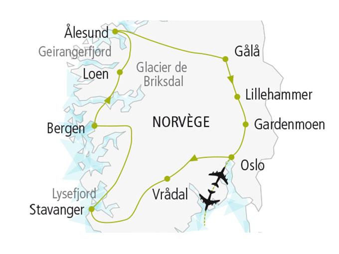 carte nordiska scandinavie circuit  Tresors Norvegiens 168762